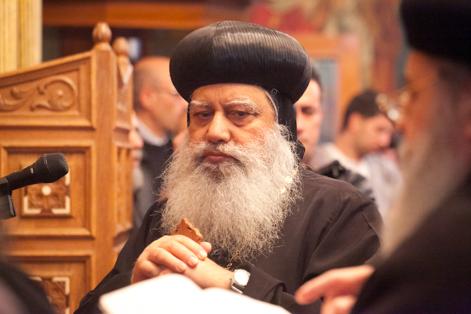 + Mgr Anba Abraham, archevêque copte orthodoxe métropolitain de Jérusalem et du Proche-Orient (Photo CTS)